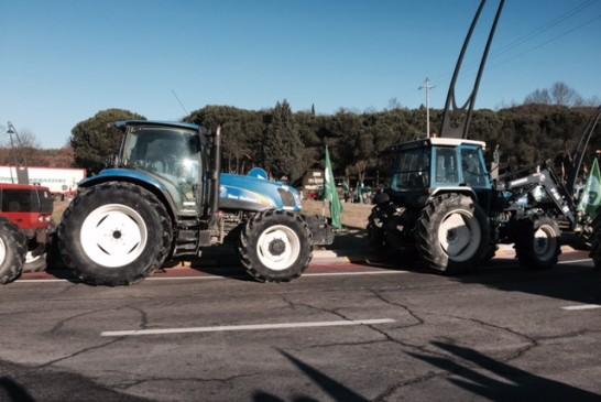 Agricoltori e trattori scendono in piazza a difesa delle loro aziende