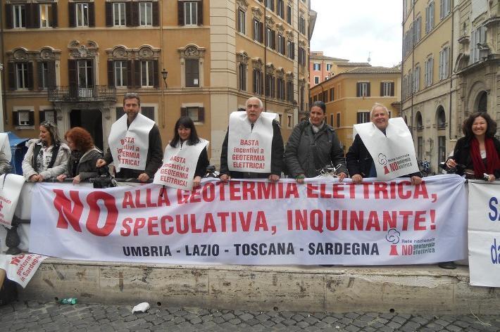 La protesta Nogesi a Roma