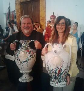Carlo Pizzichini con Valeria Agnelli