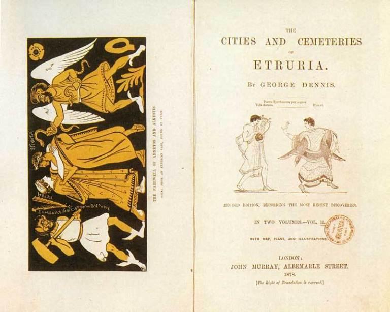 """Bluetrusco, """"Cities and Cemeteries of Etruria"""" in italiano"""
