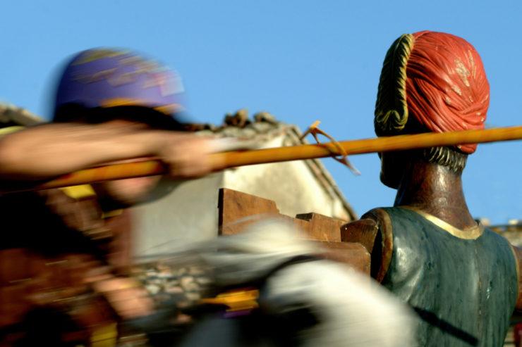 Attesa a Sarteano per la Giostra del Saracino