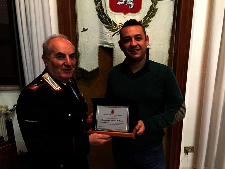25 anni di servizio a Rapolano: premiato il comandante della Stazione dei Carabinieri