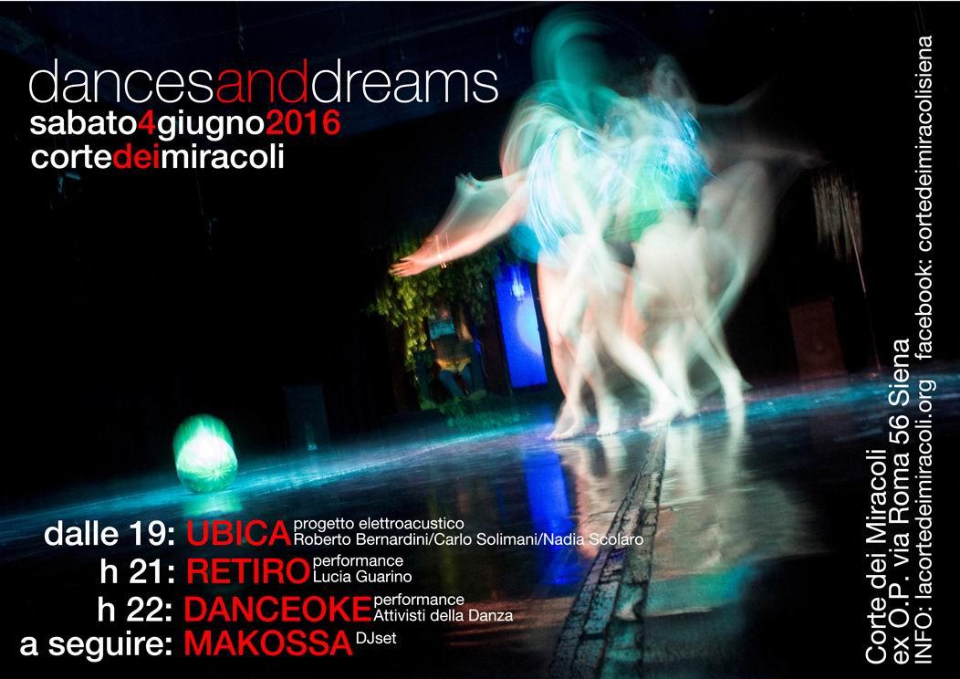 Dances and dreams, ultimo sabato sera alla Corte dei Miracoli