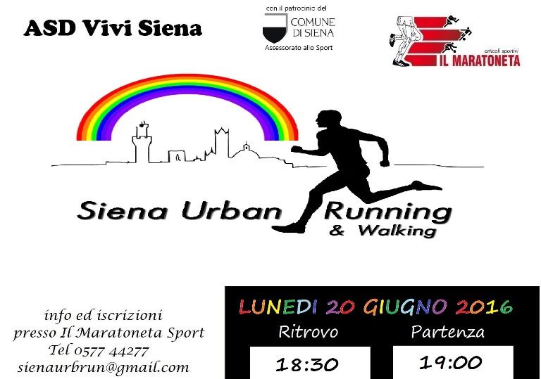 "Siena Urban Running: social corsa per ""Arcobaleno d'estate"""