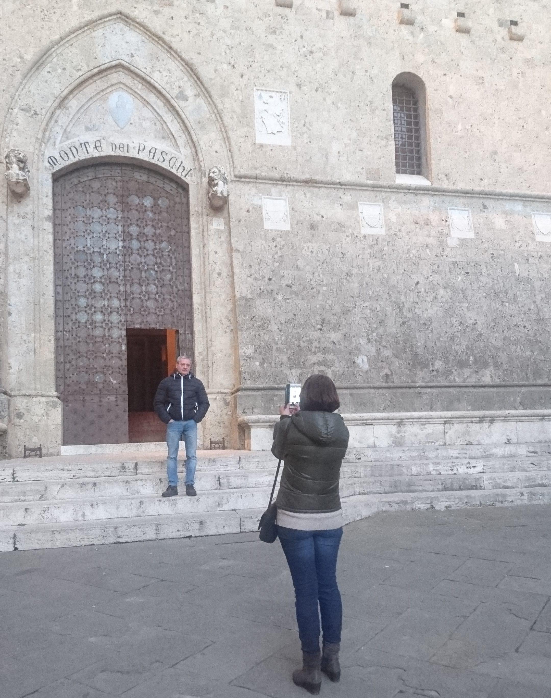 Foto ricordo a Rocca Salimbeni