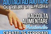 Solidarietà Nazionale: sabato 25 raccolta alimentare a Colle Val d'Elsa