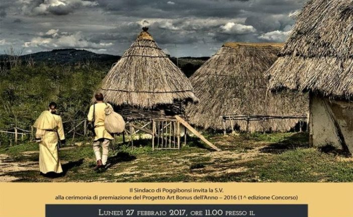 Premio Art Bonus all'Archeodromo di Poggibonsi
