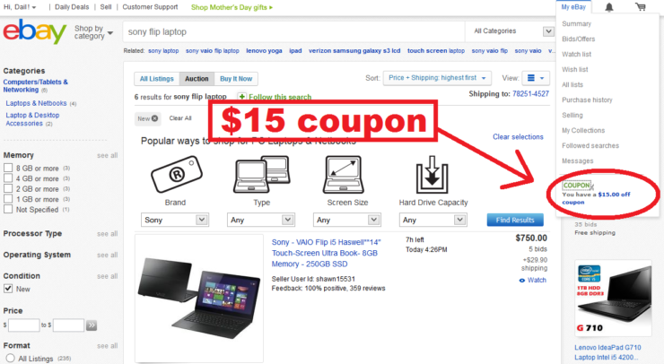 Ebay 10 discount coupon
