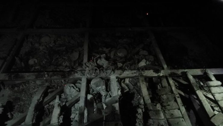 Incendio sulla Torre del Mangia nel giorno del Palio