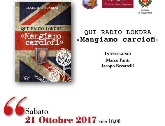 """Claudio Biscarini al Mondo dei Libri con """"Mangiamo carciofi"""""""