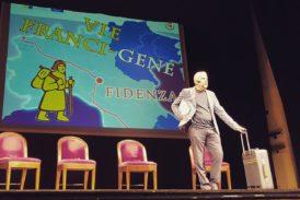 La Via Francigena ai Rozzi per lo spettacolo di Gene Gnocchi