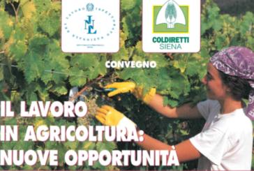 """Convegno di Coldiretti su """"Il lavoro in agricoltura: nuove oppportunità"""""""
