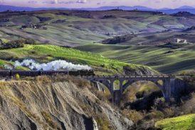 A Trequanda sul treno a vapore dell'Olio Novo