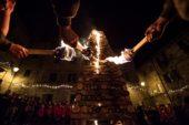 Ad Abbadia San Salvatore le'Fiaccole'accendono il Natale
