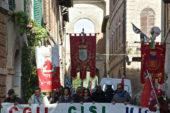 Cgil, Cisl e Uil al Pala Giannelli di Siena