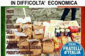 """FdI organizza una """"raccolta alimentare"""" per gli italiani in difficoltà"""