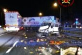 Incidente sulla A1: coinvolti due tir e un furgone