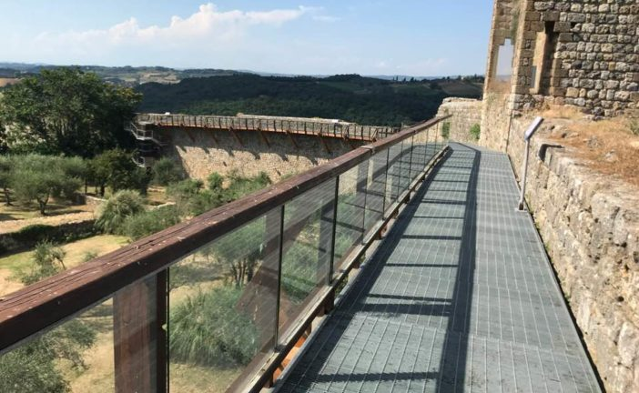 Monteriggioni: riaperto il camminamento sud