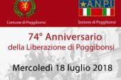 Poggibonsi ricorda il 74° anniversario della Liberazione