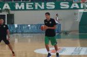 Matteo Neri si allena con la Mens Sana