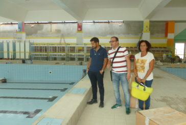 Buzzichelli e Michelotti visitano la piscina dell'Acquacalda
