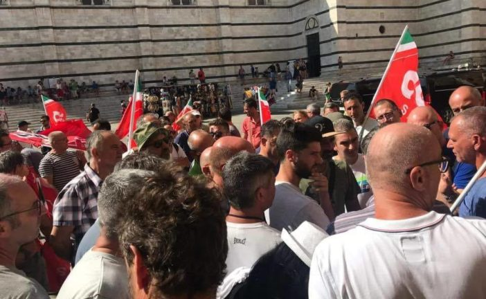 Presidio dei lavoratori Sei Toscana a Siena