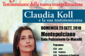 Convocazione diocesana a Montepulciano con ospite Claudia Koll