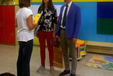 Il sindaco De Mossi e l'assessore Santi in visita all'asilo