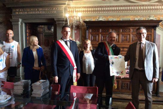 Delegazione di Alessandria ricevuta dal sindaco De Mossi