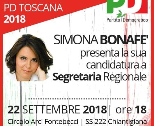 Simona Bonafè a Siena sabato 22 settembre