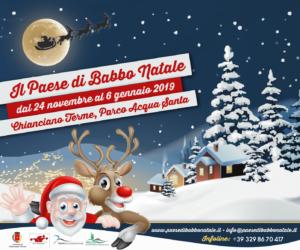 Abitazione Di Babbo Natale.Chianciano Terme Presentata La V Edizione Del Paese Di Babbo Natale Il Cittadino Online