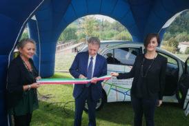 Inaugurata la colonnina di ricarica pubblica per veicoli elettrici