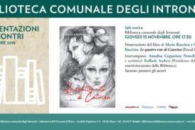 """Agli Intronati Mario e Raffaella Ruscitto presentano """"Le quattro vite di Caterina"""""""