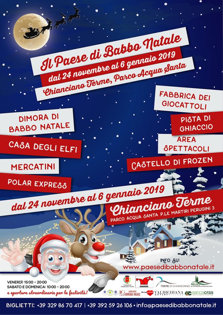 Casa Babbo Natale 2019.Chianciano Inaugura Il Paese Di Babbo Natale Il Cittadino Online