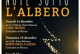 """Al Politeama """"Note sotto l'albero"""" in attesa del Natale"""