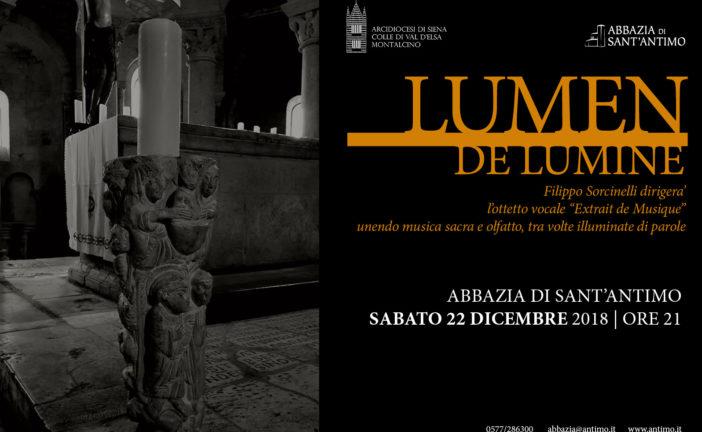 Lumen de Lumine: aspettando il Natale a Sant'Antimo
