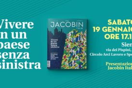 Jacobin Italia a Siena, sabato 19 la presentazione