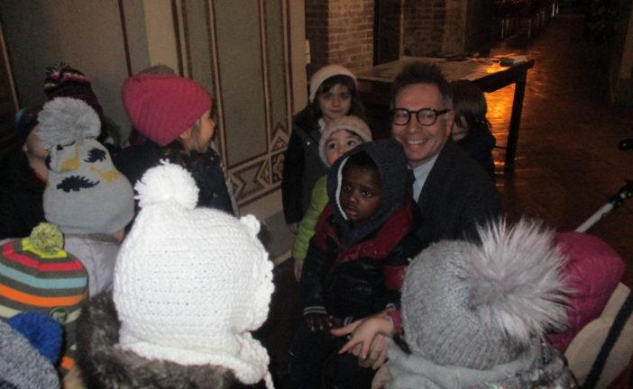 I bambini dell'Agnoletti in visita dal sindaco
