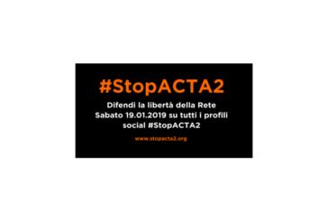 #StopACTA2, la normativa europea ammazzainternet