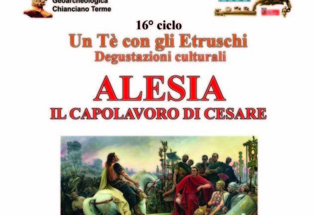 """Ad """"UN tè con gli etruschi"""" Mengoli parla di """"Alesia: il capolavoro di Cesare"""""""