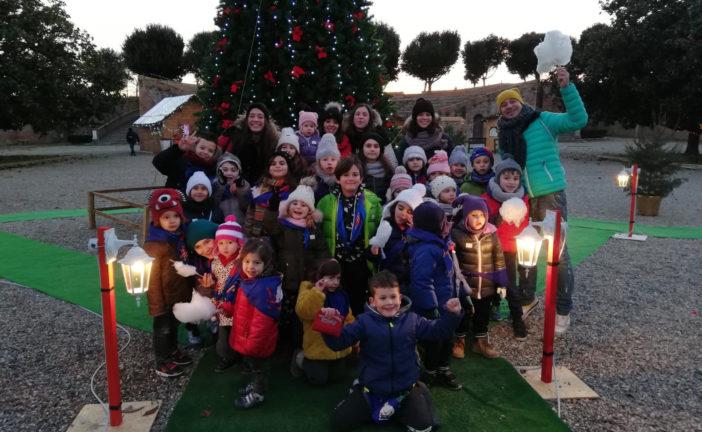 Bimbi delle Contrade in visita da Babbo Natale