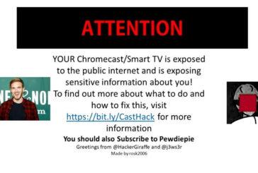CastHack: 72,341 Chromecast sono stati violati