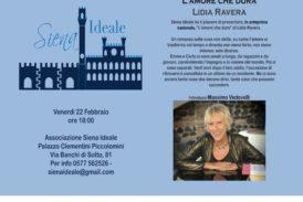 Lidia Ravera a Siena Ideale con il suo nuovo libro