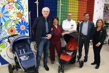 Gli Speziali della Pantera donano 2 passeggini a Pediatria