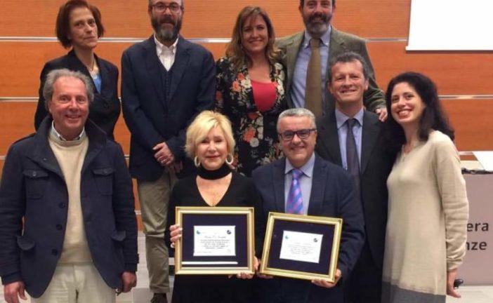 """""""Mapi"""" Corbelli e Daniele Magrini festeggiati per i 40 anni da giornalisti"""