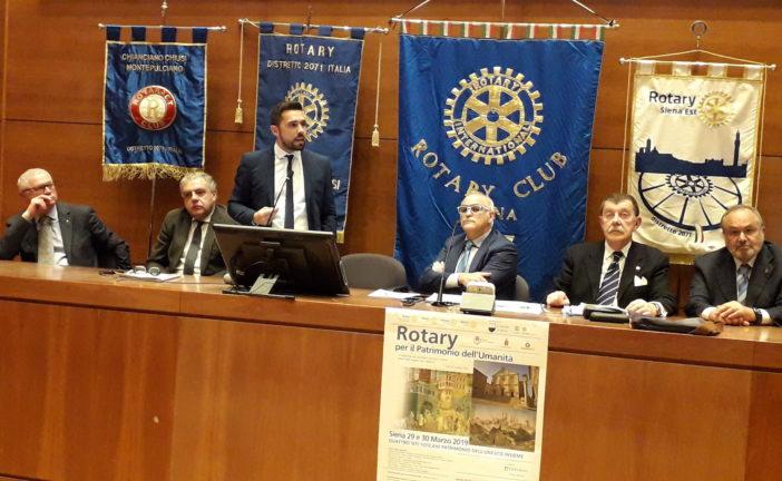 Michelotti al convegno del Rotary che valorizza il sito Unesco