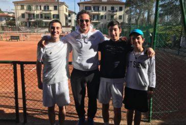 Tennis: 4 vittorie e 1 sconfitta per le giovanili