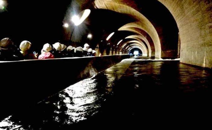 Acquedotto del Fiora alla sorgente Ermicciolo con i ragazzi delle scuole