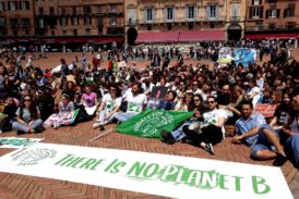 Gli studenti di Unisi partecipano al Fridays for future