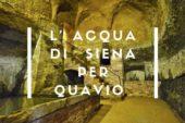 L'Acqua di Siena per Quavio nella Giornata del sollievo